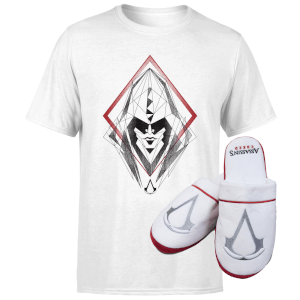 Lot Assassin's Creed : t-shirt + pantoufles