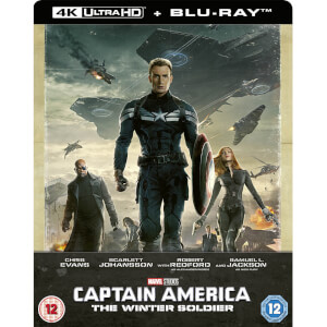 Captain America: Winter Soldier 4K Ultra HD (Includes 2D Blu-ray) Zavvi Exclusive Steelbook