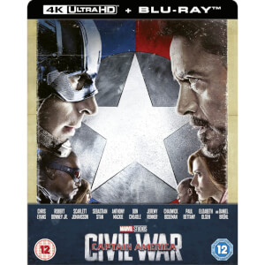 Captain America: Civil War 4K Ultra HD (Includes 2D Blu-ray) Zavvi Exclusive Steelbook