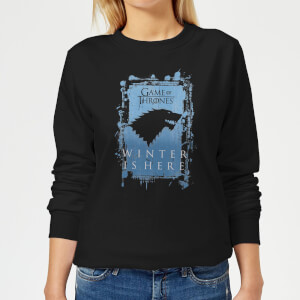 Game of Thrones Winter Is Here Women's Sweatshirt - Black