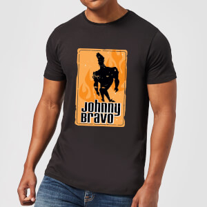 Johnny Bravo Fire Men's T-Shirt - Black