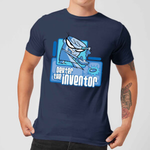 Dexters Lab The Inventor Men's T-Shirt - Navy