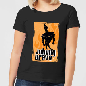 Johnny Bravo Fire Women's T-Shirt - Black