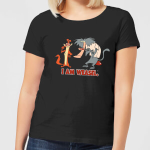 I Am Weasel Characters Women's T-Shirt - Black