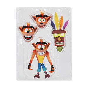 "NECA Crash Bandicoot - 7"" Scale Action Figure- Ultra Deluxe Crash"