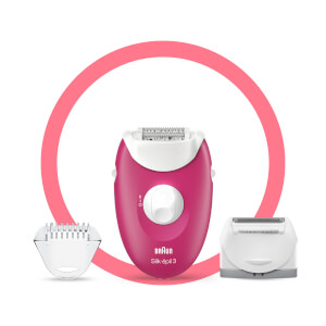 Braun Silk-épil 3 3-410 Epilator with 3 Extras
