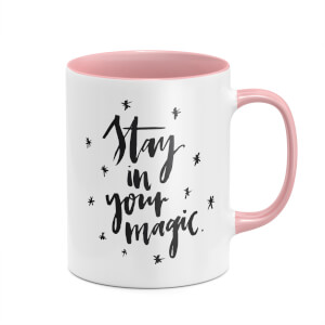 Stay In Your Magic Mug - White/Pink
