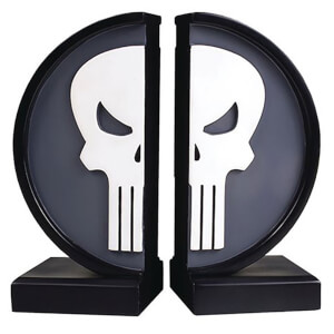 Fermalibri con logo di Punisher, Marvel, Gentle Giant - 18 cm