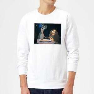 Disney Lady And The Tramp Spaghetti Scene Sweatshirt - Weiß