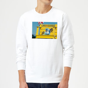 Disney Lilo And Stitch Life Guard Sweatshirt - White