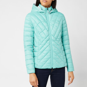 Barbour Women's Rowlock Quilt Coat - Sea Green/Ice White