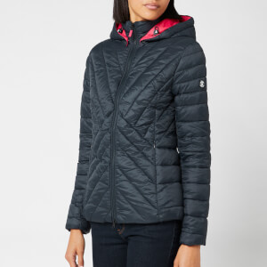 Barbour Women's Rowlock Quilt Coat - Navy/Lobster