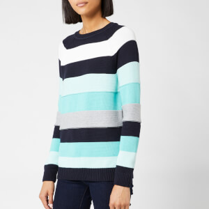 Barbour Women's Overseas Knitted Jumper - Navy