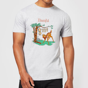 Disney Bambi Tilted Up Men's T-Shirt - Grey