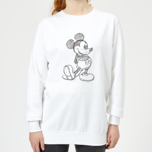 Disney Mickey Mouse Sketch Women's Sweatshirt - White