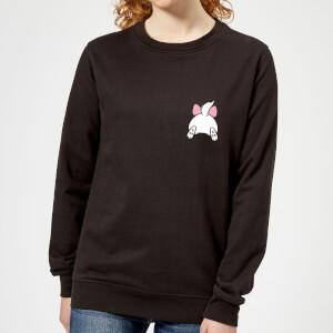 Disney Marie Backside Women's Sweatshirt - Black