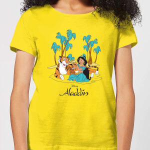 Disney Aladdin Princess Jasmine Damen T-Shirt - Yellow