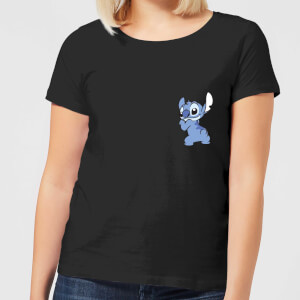 Disney Stitch Backside dames t-shirt - Zwart
