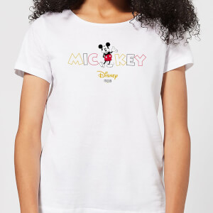 Disney Mickey Mouse Disney Wording Damen T-Shirt - Weiß