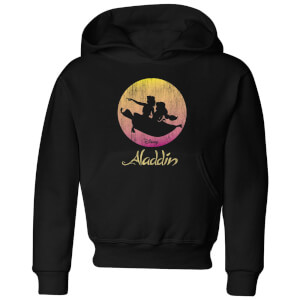 Disney Aladdin Flying Sunset kinder hoodie - Zwart