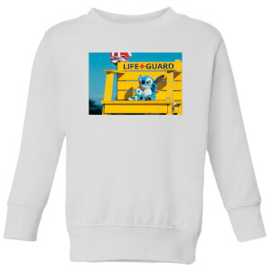 Disney Lilo And Stitch Life Guard Kids' Sweatshirt - White