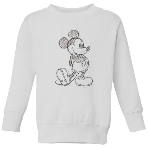 Disney Mickey Mouse Sketch Kids' Sweatshirt - White