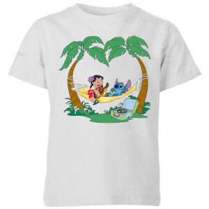 Disney Lilo & Stitch Play Some Music kinder t-shirt - Grijs