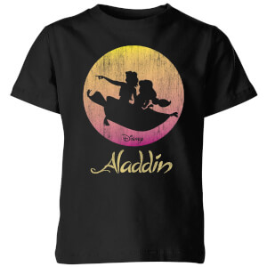 Disney Aladdin Flying Sunset Kids' T-Shirt - Black