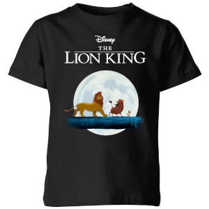 T-Shirt Disney Re Leone Hakuna Matata Walk - Nero - Bambini