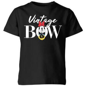 Disney Minnie Mouse Vintage Bow Kids' T-Shirt - Black