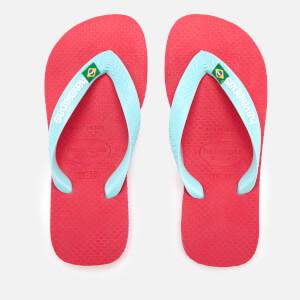 Havaianas Kids' Brasil Logo Flip Flops - Flamingo