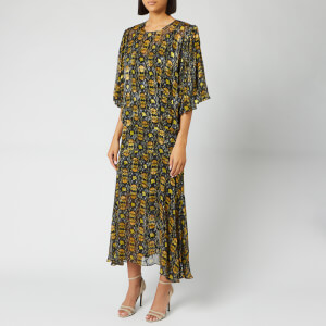 Preen By Thornton Bregazzi Women's Lydia Dress with Slip - Black/Yellow