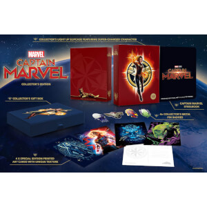 Captain Marvel 4K Ultra HD Zavvi Exklusives Steelbook Sammler Edition (Inkl. 2D Blu-ray)
