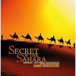 Monte Stella Records - Ennio Morricone - Secret Of The Sahara (Soundtrack) [LP] (180 Gram, Black & Solid Orange Mixed Colored Vinyl, import)