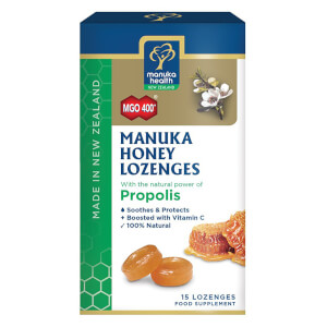 MGO 400+ Manuka Honey Lozenges with Propolis - 15 Lozenges