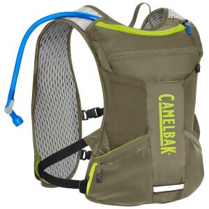 Camelbak Chase Bike Vest 1.5L Hydration Backpack - Burnt Olive/Lime
