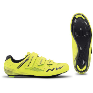 Northwave Core Road Shoes - Yellow Fluo/Black