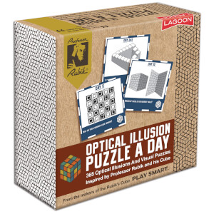 Rubik Optical Illusion A Day Deskblock