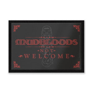 Harry Potter Mudbloods Not Welcome mat