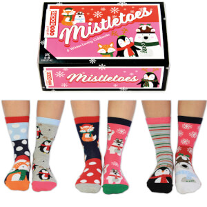 United Oddsocks Women's Misteltoes Gift Set (UK 4-8)