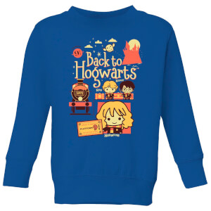 Harry Potter Kids Back To Hogwarts Kids' Sweatshirt - Royal Blue