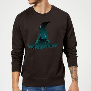 Harry Potter Sorting Hat Silhouette Sweatshirt - Black