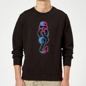 Harry Potter Dark Mark Neon Sweatshirt - Black