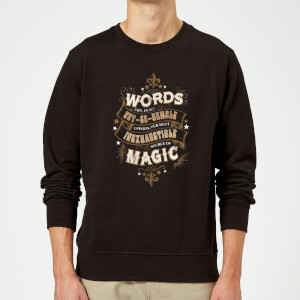 Harry Potter Words Are, In My Not So Humble Opinion Sweatshirt - Black