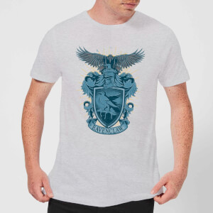 Harry Potter Ravenclaw Drawn Crest Men's T-Shirt - Grey