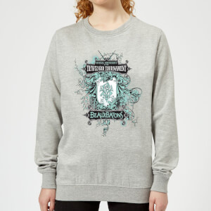 Harry Potter Triwizard Tournament Beauxbatons Women's Sweatshirt - Grey