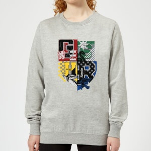 Harry Potter Varsity House Logo Women's Sweatshirt - Grey