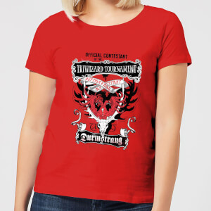 Harry Potter Triwizard Tournament Durmstrang dames t-shirt - Rood