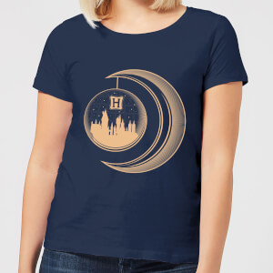 Harry Potter Globe Moon Women's T-Shirt - Navy
