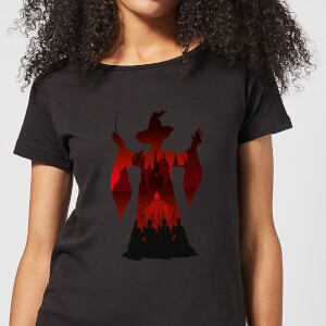 T-Shirt Harry Potter McGonagall Silhouette - Nero - Donna